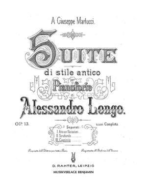 Longo, A: Capriccio op. 13/3