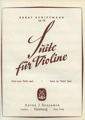 Schiffmann, E: Suite op. 79