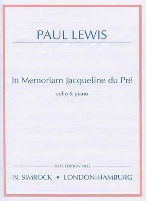 Lewis, P: In Memoriam Jacqueline du Pré Product Image