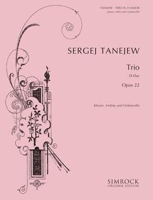Tanejev, S: Piano Trio in D op. 22