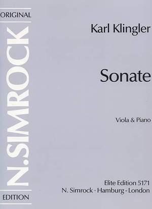 Klingler, K: Sonata in D Minor
