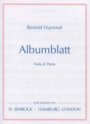 Hummel, B: Album Leaf