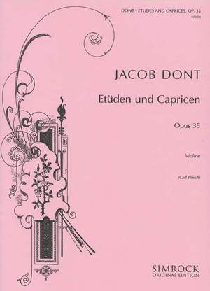 Dont, J: Studies and Caprices op. 35