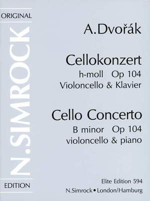 Dvorák, A: Cello Concerto in B Minor op. 104 Product Image