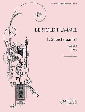 Hummel, B: String Quartet No. 1 op. 3