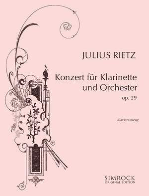 Rietz, J: Clarinet Concerto op. 29 Product Image