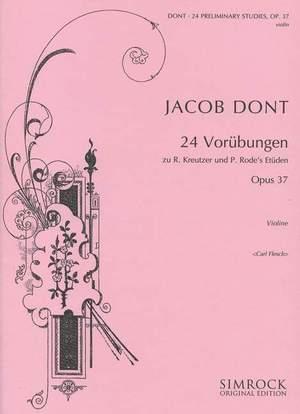 Dont, J: 24 Exercises preparatory op. 37