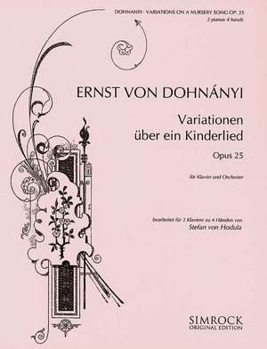 Dohnányi, E v: Variations on a Nursery Song op. 25