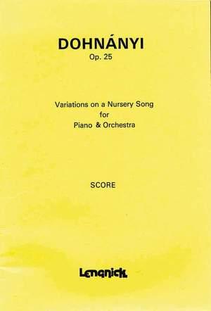 Dohnányi, E v: Variations on a Nursery Song op.25