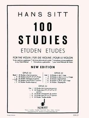Sitt, H: 100 Studies Op. 32 Heft 3