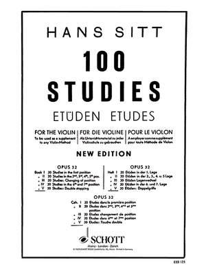 Sitt, H: 100 Studies Op. 32 Heft 5