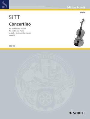 Sitt, H: Concertino in A Minor op. 93