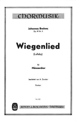 Brahms, J: Lullaby (Wiegenlied) op. 49/4