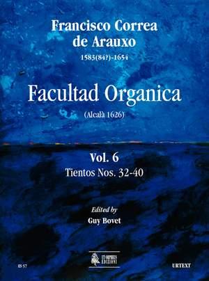 Correa de Arauxo, F: Facultad Organica (Alcalá 1626)   Vol. 6