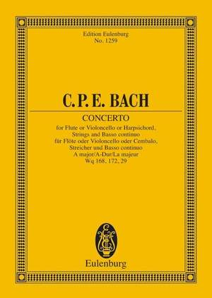 Bach, C P E: Concerto A major H 437-39, Wq 168, 172, 29