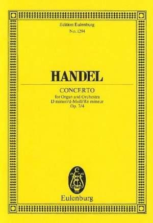 Handel, G F: Organ concerto No. 10 D minor op. 7/4 HWV 309