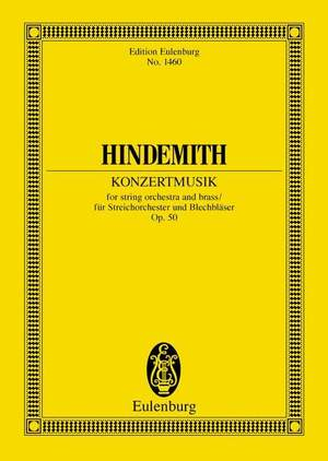 Hindemith, P: Konzertmusik for strings and brass op. 50
