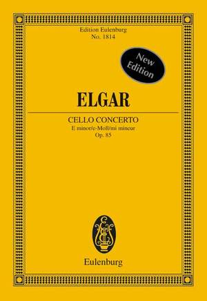 Elgar, E: Cello Concerto E minor op. 85