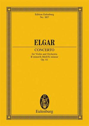 Elgar, E: Violin Concerto B minor op. 61