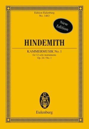 Hindemith, P: Kammermusik No. 1 op. 24/1