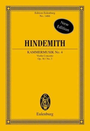 Hindemith, P: Kammermusik No. 4 op. 36/3