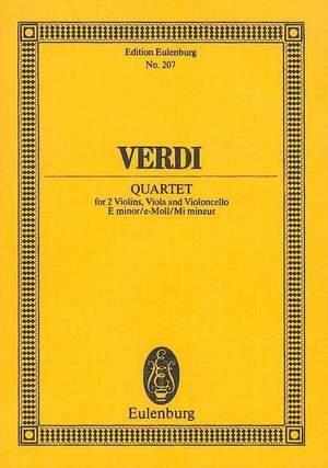 Verdi: String Quartet E minor
