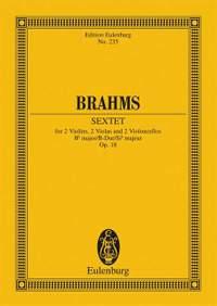 Brahms, J: Sextet Bb major op. 18
