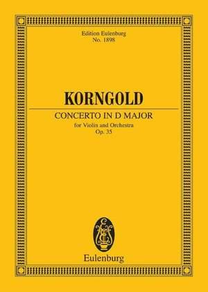 Korngold, E W: Concerto in D major op. 35