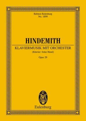 Hindemith, P: Klaviermusik mit Orchester op. 29