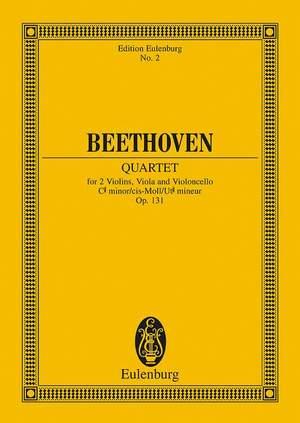 Beethoven, L v: String Quartet C# minor op. 131