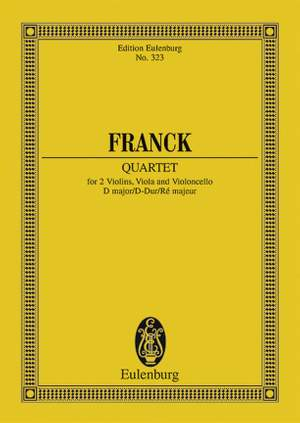Franck, C: String Quartet D major