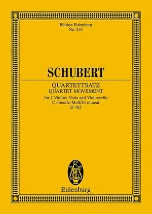 Schubert, F: String Quartet Movement C minor op. posth. D 703