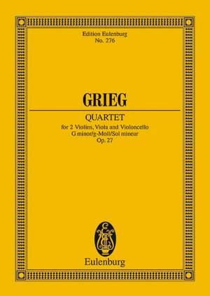 Grieg, E: String Quartet G minor op. 27