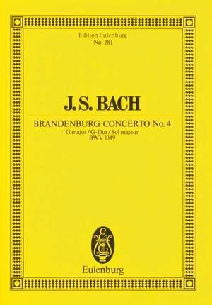 Bach, J S: Brandenburg Concerto No. 4 G major BWV 1049