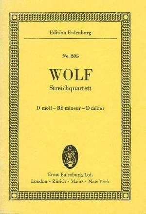Wolf: String Quartet D minor