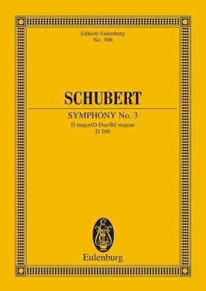 Schubert, F: Symphony No. 3 D major D 200