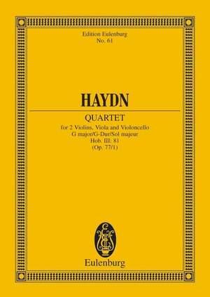 Haydn, J: String Quartet G major, Komplimentier op. 77/1 Hob. III: 81