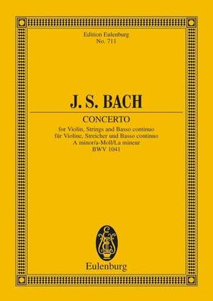 Bach, J S: Concerto A minor BWV 1041
