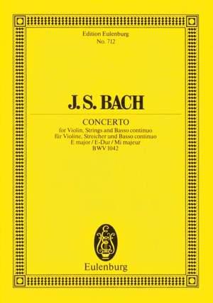 Bach, J S: Concerto E major BWV 1042