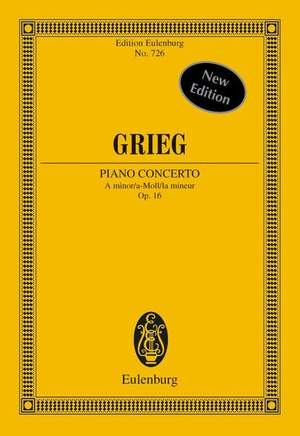 Grieg, E: Piano Concerto A minor op. 16