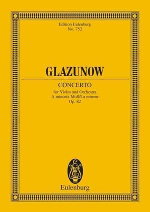 Glazunov, A: Concerto A minor op. 82