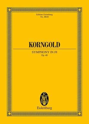 Korngold, E W: Symphony in F# op. 40
