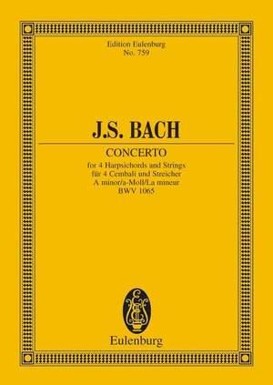 Bach, J S: Concerto A minor BWV 1065