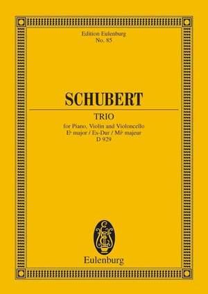 Schubert, F: Piano Trio Eb major op. 100 D 929