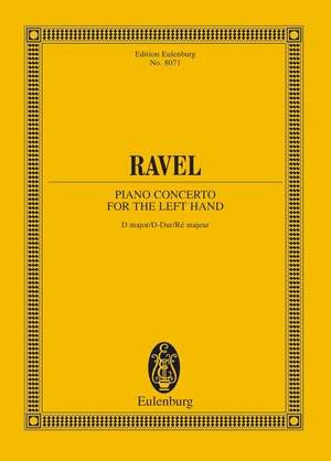 Ravel, M: Piano Concerto for the Left Hand D major