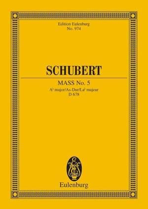 Schubert, F: Mass No. 5 Ab major D 678 Product Image
