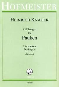 Knauer, H: 85 Übungen für Pauken