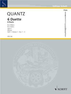 Quantz, J J: Six Duets op. 2 Heft 1