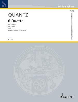Quantz, J J: Six Duets op. 2 Heft 2