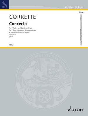 Corrette, M: Concerto A major op. 3/3